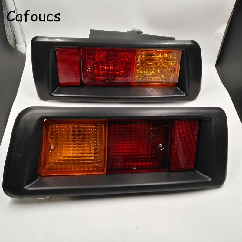 Cafoucs Tail Bumper Reflector Warning Fog Light For Toyota Land Cruiser Prado LC90 3400 FJ90 FJ95 2700 1996 - 2002 toyota land cruiser 70 prado 71 72 77 78 79 модели 1985 1996 гг выпуска руководство по ремонту и техническому обслуживанию