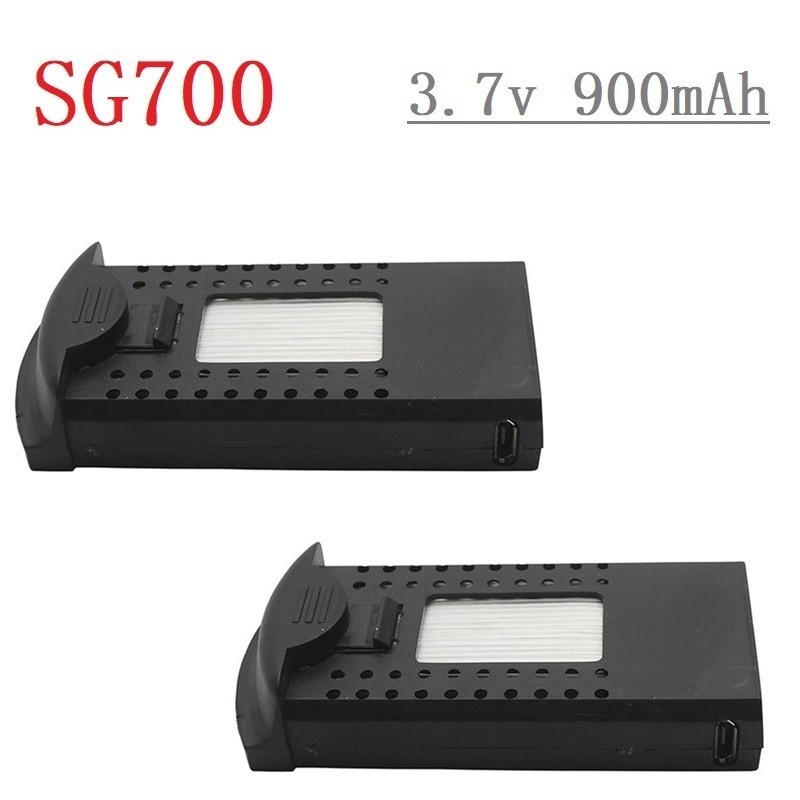 Original 3.7V 900mAh Li-po Battery for DM107S SG700 S169 RC Quadcopter Spare Parts 3.7v Drone Rechargeable Battery <font><b>752560</b></font> 2pcs image