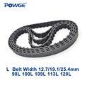 POWGE трапециевидный ремень L C = 98/100/109/113/120 ширина 050/12. 7 мм 075/19. 1 мм 25 4 мм синхронный ремень 98L 100L 109L 113L 120L