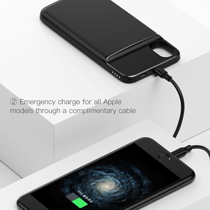 Baseus 5000mAh QI Wireless Charger Case For iPhone X External Battery Backup Wireless Charging Power Bank For Samsung S9 S8 Plus