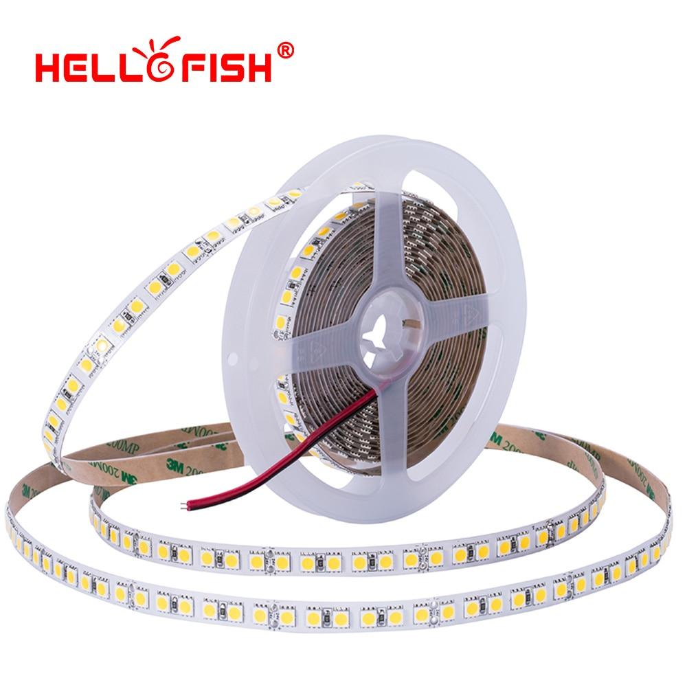5050 led strip 5m 120 LED light waterproof DC 12V flexible light stripe High brightness ribbon tape backlight