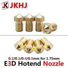 3D Printer Parts E3D hotend Nozzle High Precision Brass Nozzle 0.2/0.3/0.4/0.5mm for V5 V6 j-hend hotend 1.75mm 4