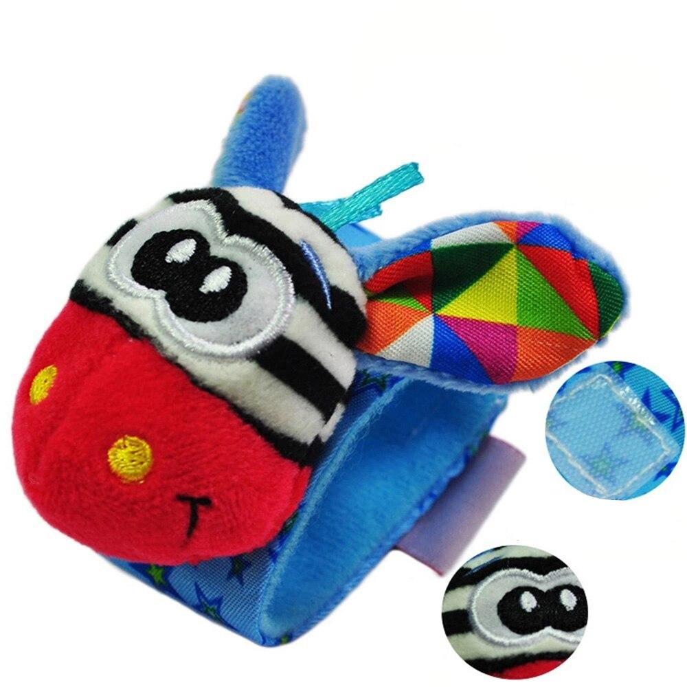 Cartoon Baby Rattle Baby Toys 13-24 Months Soft Animal Rattles Children Infant Newborn Plush Baby Toy Wrist Strap
