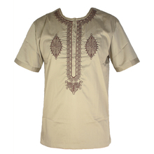 New Wedding Wear Africa Clothes Bazin Embroidery Mens Dashiki Tops African Kaftan Tunic Clothing