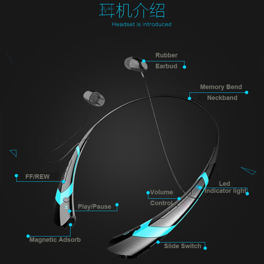 MLLSE Anime Hatsune Miku Snow Neckband Bluetooth Headphone Earphones Wireless Stereo Headset for Iphone Samsung Xiaomi LG HTC