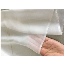 1 meter white chiffon fabric for sewing 100% silk 8 mm solid thin and transparent width 55 inches quilting patchwork telas
