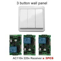 QIACHIP 433Mhz 110V 220V 1CH Wireless Remote Control Switch Relay Receiver Module Remote Controls Wall Switch