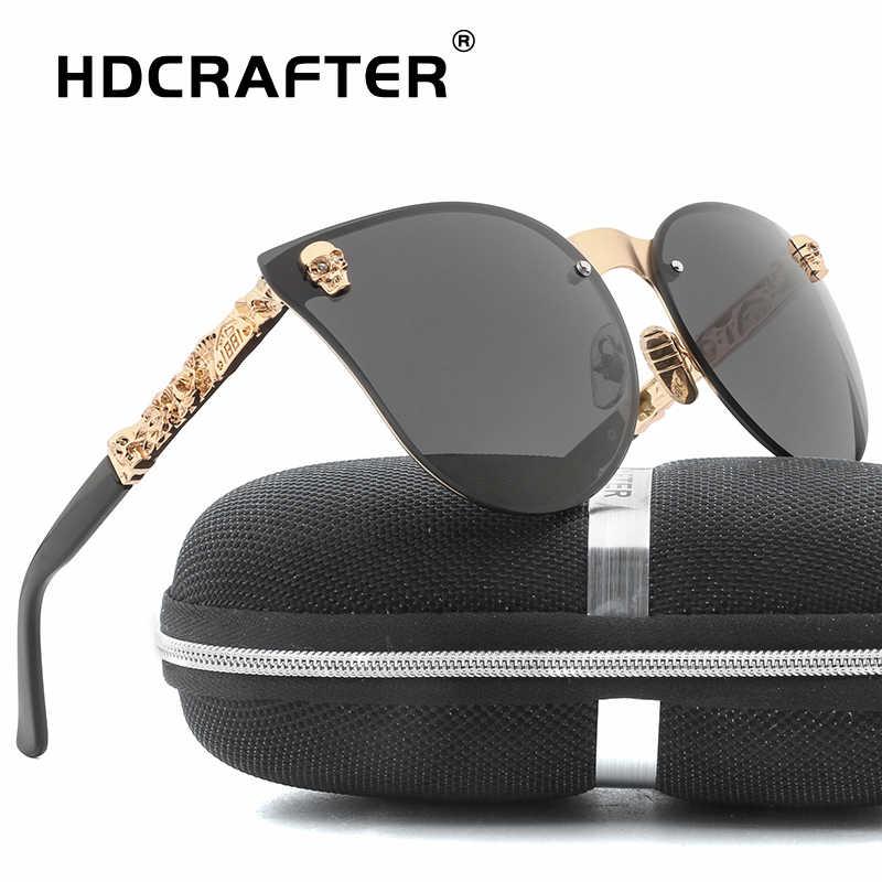 ca70d967a1f Fashion Sunglasses Men Women Mirror Vintage Brand Design Ladies Sun Glasses  Metal Skull Frame Sunglasses UV400