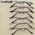 2015 металл half-обод мужской бренд памяти титана храм гибкий оптические очки близорукость пресбиопии оптические 6836
