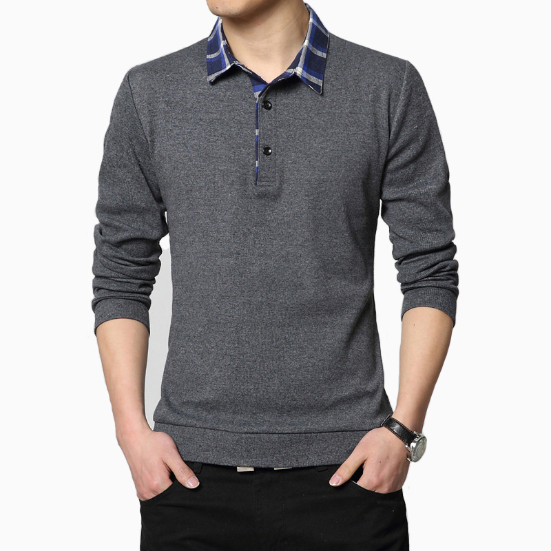 ARCSINX   Polo   Shirt Men Plus Size 5XL 4XL XXXL Large Size Men Shirt   Polo   Long Sleeve Shirt   Polo   Male's Brand Solid Color   Polos