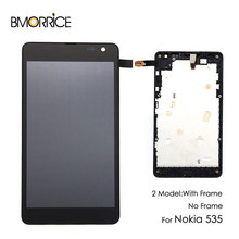 Original LCD Display For Nokia Lumia 535 N535 RM-1090 2S Touch Screen Digitizer Full Assembly with Frame Replacement Parts все цены