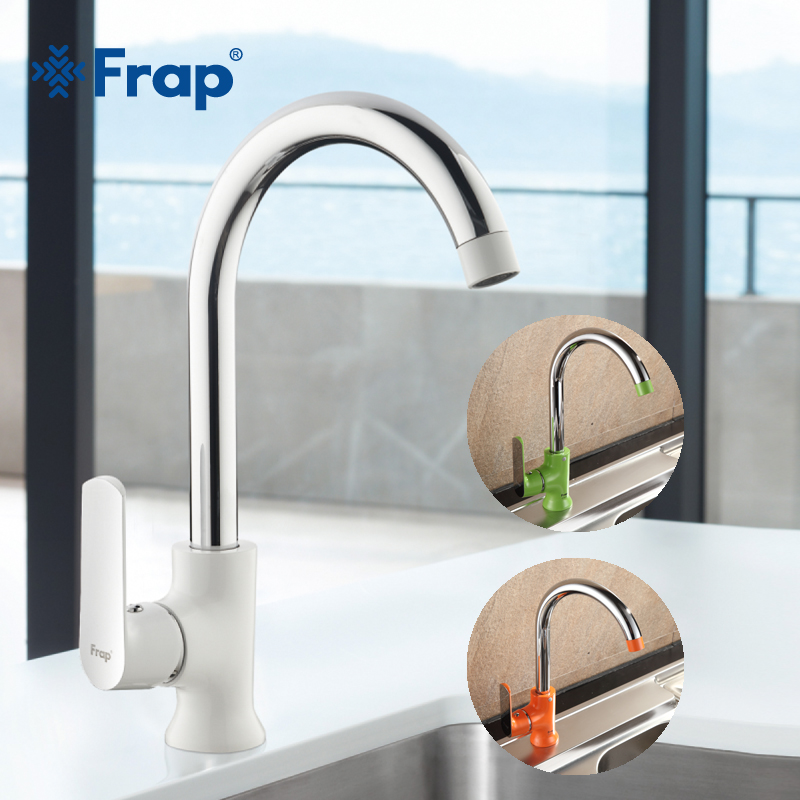 Frap Newly arrived Modern fashion style brass kitchen faucet Optional 3-color 360 degree rotation torneira cozinha mixer F4031