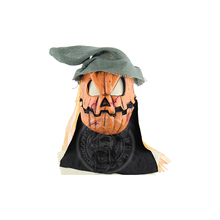 Scary Pumpkin Scarecrow Mask Cosplay Costume Halloween For Adult Carnival Party Props