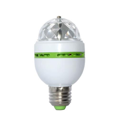Image 2 - E27 3 ワットカラフルな自動回転 RGB Led 電球ステージライトパーティーランプディスコ家の装飾照明ランプ - AliExpress   グループ上の ライト