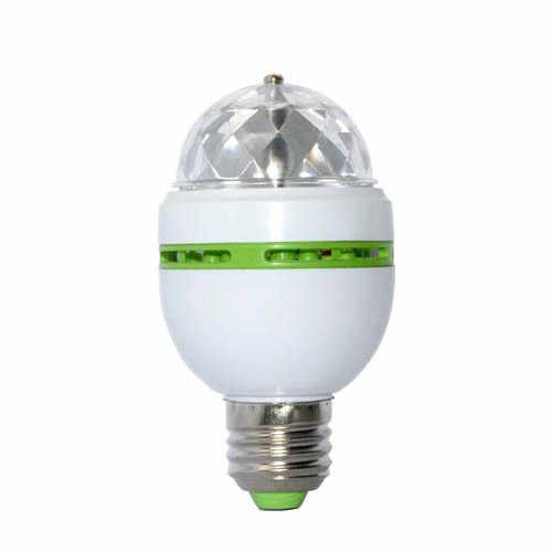 E27 3 Вт красочный автоматический вращающийся RGB светодиодный ламповое дежурное освещение вечерние лампы диско для домашнего украшения осветительные лампы