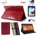 2018 new Luxury Crocodile Stand PU Leather case for samsung galaxy Tab S 10.5 T800 T805 ablet cover +stylus+film+ otg free