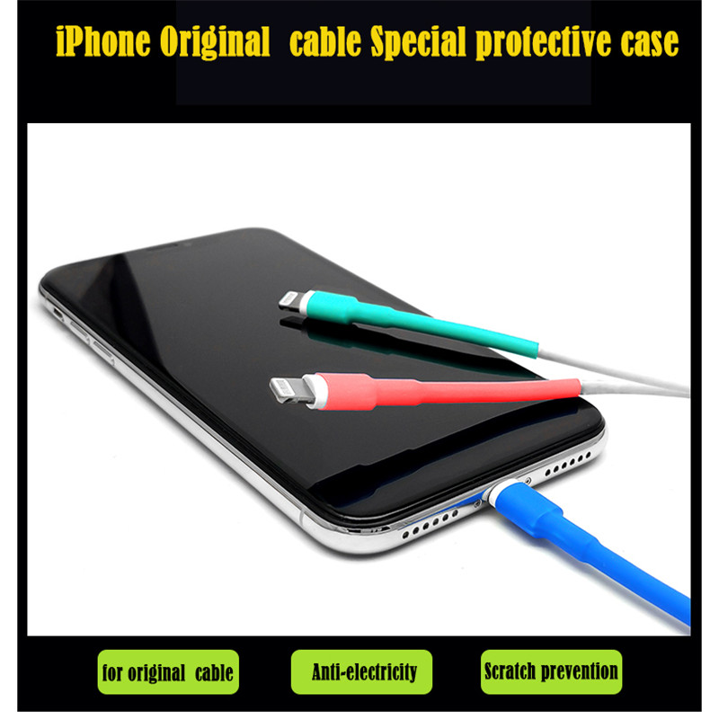5PCS for iphone Cable protector usb cable wire organizer winder Heat Shrink Tube Sleeve for iPad 5PCS  for iphone Cable protector usb cable wire organizer winder Heat Shrink Tube Sleeve for iPad iPhone 5 6 7 8 X XR XS Cable