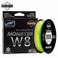 SeaKnight Монстр W8 500 м плетеная рыболовная леска из ПЭ 8strands супер прочная леска Широкий формат Технология по составу многонитевая, линия 20-100LB Мо...