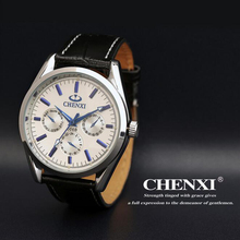 Fashion Brand Men Watch Casual Quartz Wristwatches Leather Watchband Mens Watches Top Brand Luxury Relogio Masculino 006B