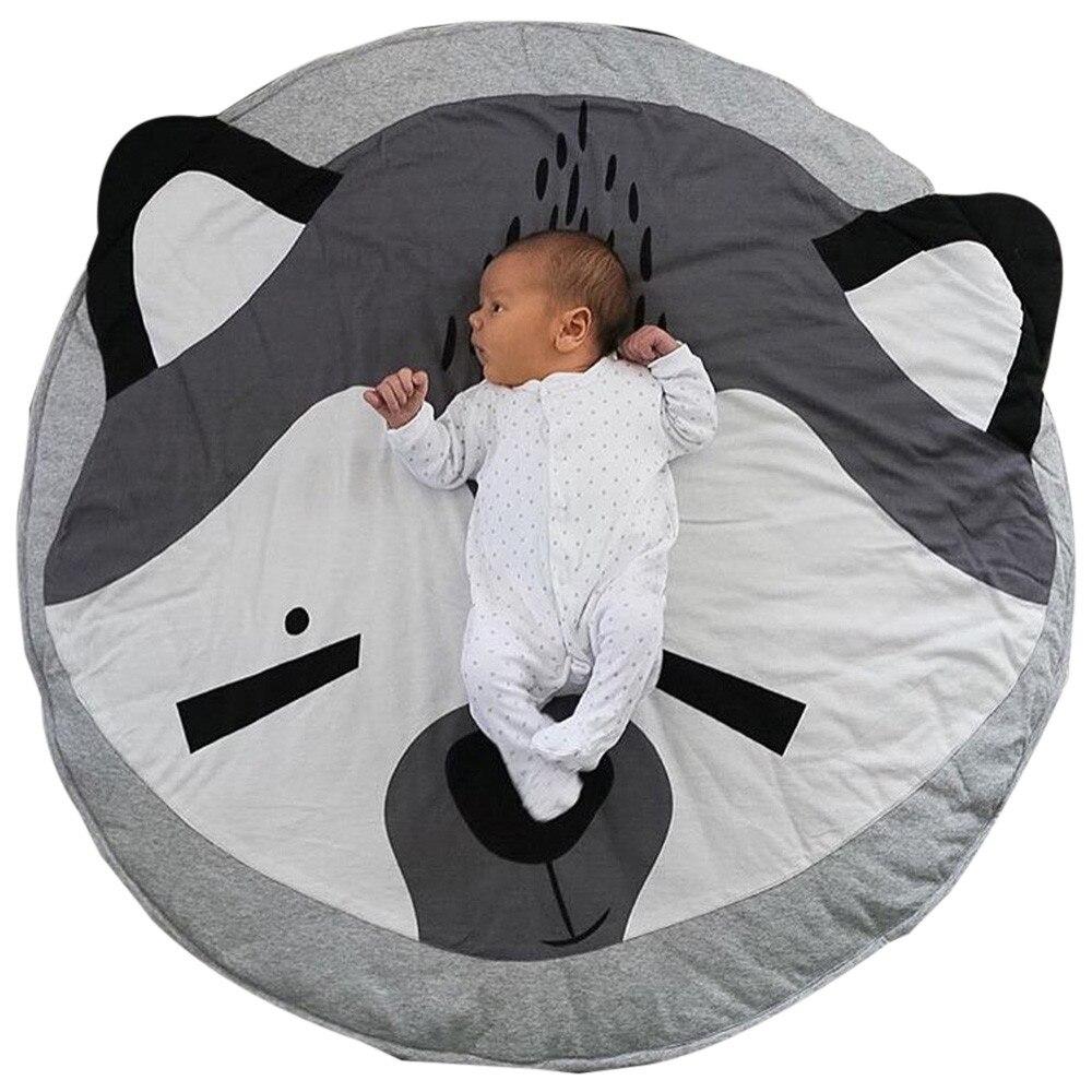 95cm Lovely Cartoon fox Baby Infant Creeping Mat Playmat Blanket Play Game Mat Room Decoration Soft Newborn Blankets #JD520