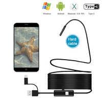 5,5mm USB Endoskop Kamera 3 in 1 Android Endoskop Mit 6 LED Wasserdicht Inspektion Endoskop Für Android PC Typ C Endoskop