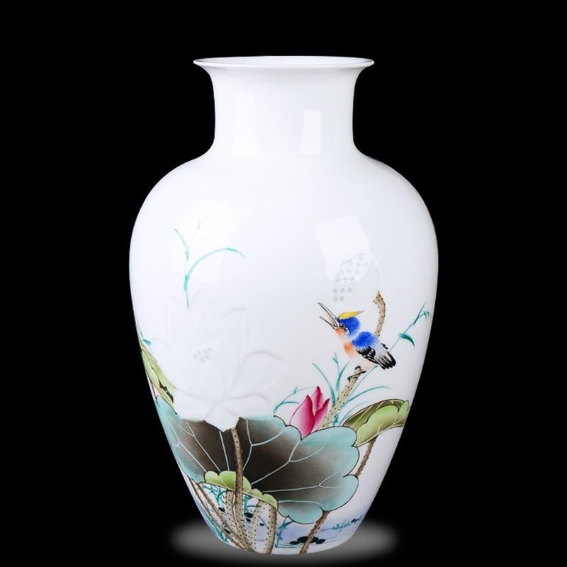 Jingdezhen ceramics Li Dongming painted underglaze red vase modern living room decoration crafts vase