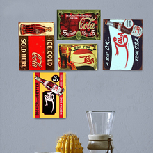 Cola Vintage Metal Plate Tin Signs Wall Poster Decals Painting Bar Club Pub Home Decor 30*20cm