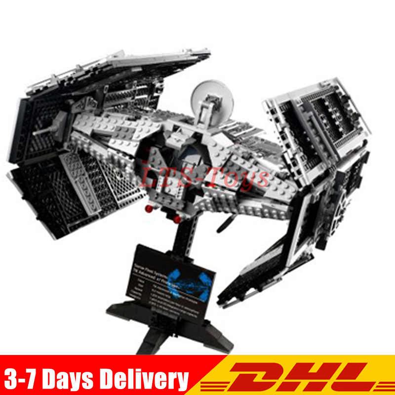 Lepin 05055 Star 1212pcs The Rogue One USC Vader TIE Advanced Fighter Set 10175 Building Blocks Bricks Educational War lepin 05055 star 1212 pieces the rogue one usc vader tie advanced fighter set 10175 building blocks bricks educational war lp046