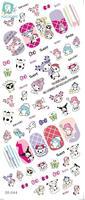 DS044 Water Transfer Foils Nail Art Sticker Harajuku Cartoon Design Manicure Decals Minx Nail Decorations Stickers
