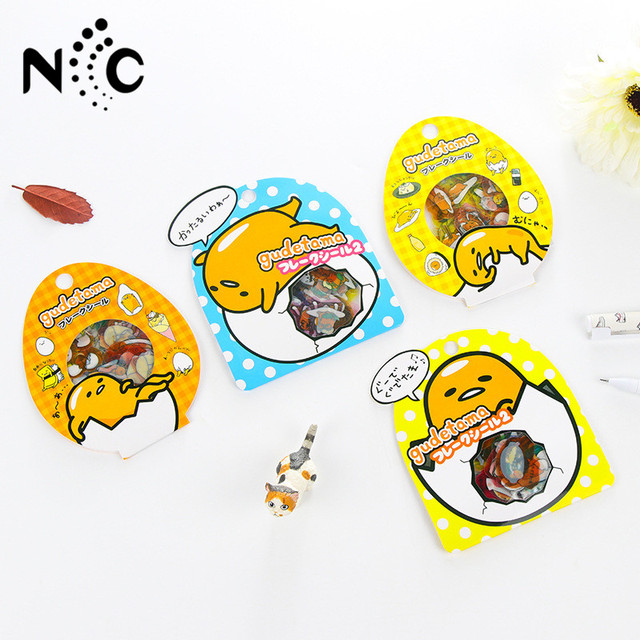 60 pcs pack sanrio gudetama lazy egg sealing stickers diary label