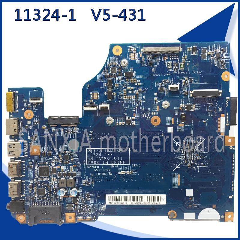 SHELI original 11324-1 laptop motherboard for Acer V5-431 motherboard GM 11324-1 mainboard tested 100% work 11324 feron