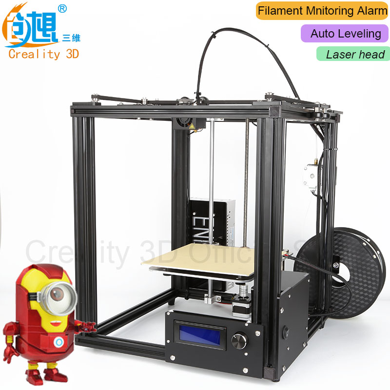Hot!!! CREALITY 3D Ender-4 Auto leveling Core-XY 3D printer V-Slot DIY kits With Filament Monitoring Alarm Potection Laser Head thyssen parts leveling sensor yg 39g1k door zone switch leveling photoelectric sensors