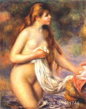oil paintings female body Bather by Renoir by Pierre Auguste Renoir artwork High quality Hand painted