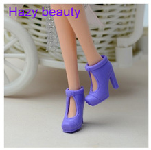 Hazy beauty different styles for choose Colorful Casual High heel shoes Flat boots for Barbie 1