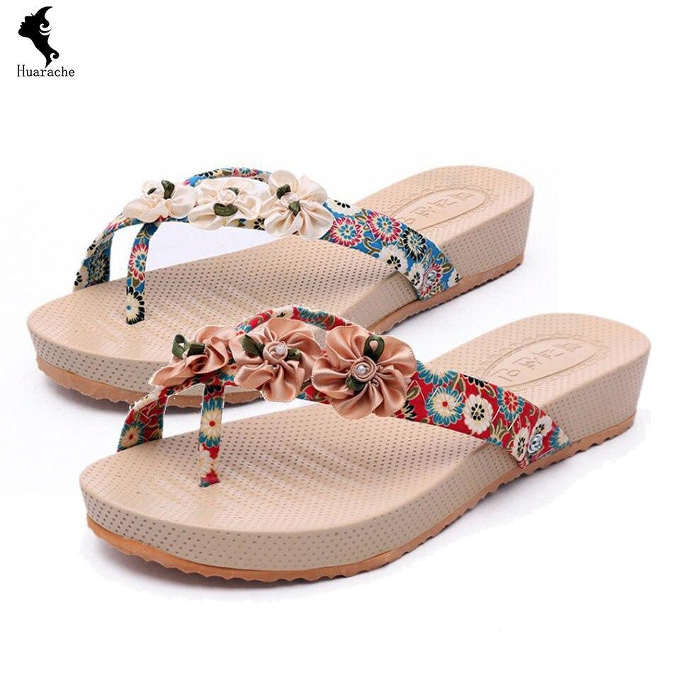 European sandals shoes - Cheap Price For European Sandals Rubber Woman Shoes Silk Slingbacks Bow Shoe Beach Floral Madam Flip Flops Yellow Fashion Summer Shoes Rubber Cheap Price