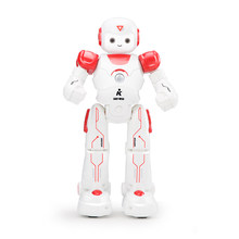 Kids Children Song And Dance Patrol Funny LED Eyes Cute Walking Programmable Intelligent Turn Gift Robot Toy Remote Control(China)