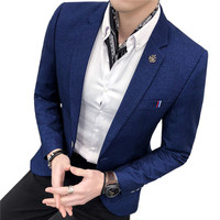 Blazers 2019 new slim urban light business hair stylist handsome small suit / male versatile simple boutique fashion suit jacket
