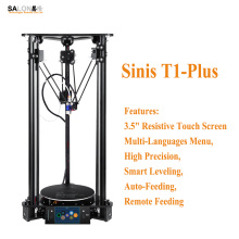Sinis T1-Plus 3.5 inch Touch Screen 3d Printer Machine Remote Feeding Multi-Language Menu Impressora 3d Intelligent Leveling