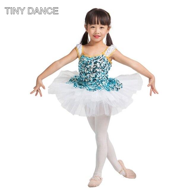 Graves sparkle sequin vestido danza del ballet leotardo azul con ...