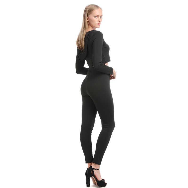 Sprężyna wysokiej jakości i jesień kobiet sportowe i rekreacyjne garnitur damskie z długim rękawem krótkie topy i czarne spodnie dwuczęściowy garnitur