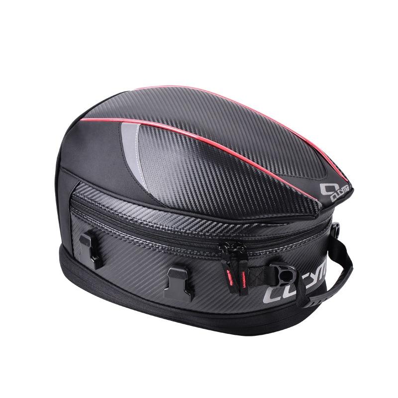 CUCYMA Motorcycle Seat Bag Tail Tank Back Luggage Bags Saddlebag Riding Travel Handbags