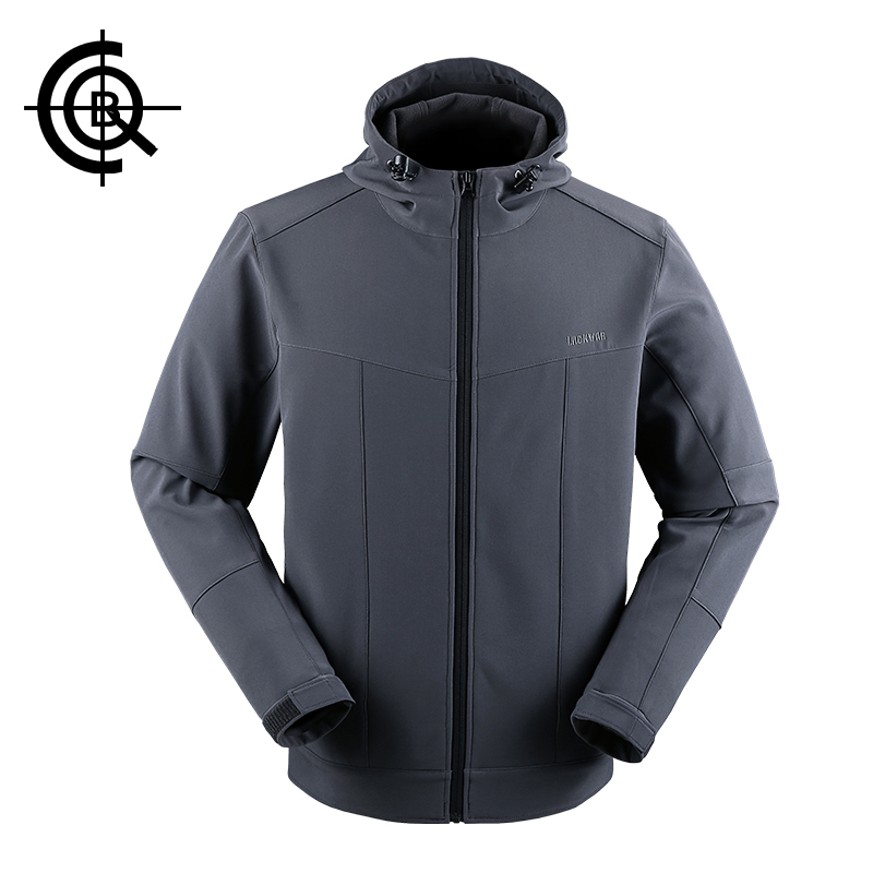 CQB Outdoor Softshell Jacket Men Water Repellent Thermal Hunting Clothes Hiking Coats Camping Thicken Hooded Jacket LYF0283 ветровка dickies softshell jacket navy