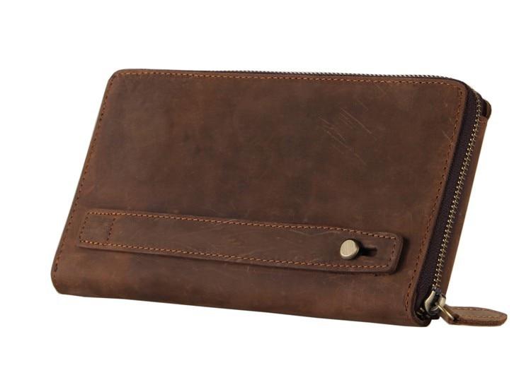 ФОТО 8036-2B J.M.D Men's Vintage style Cowhide Purse Clutch Bag Wallet Just For You