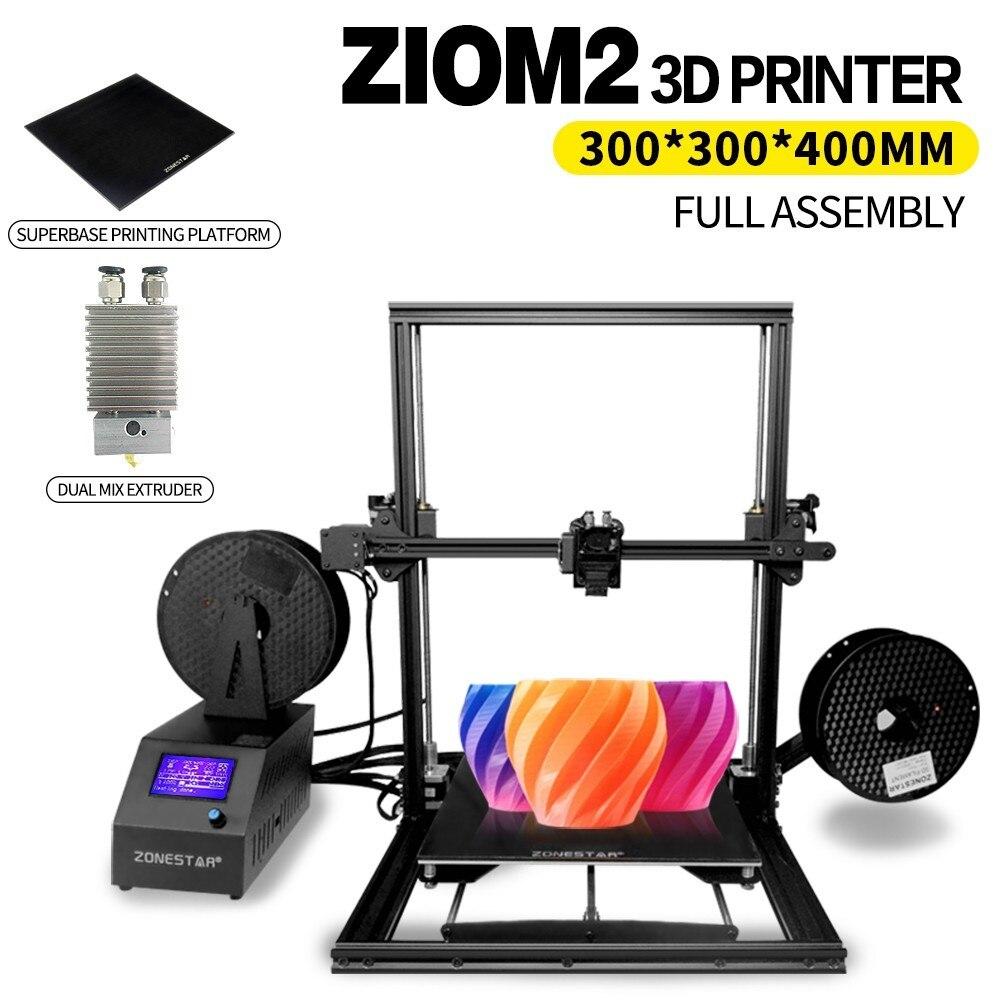 ZONESTAR Z10S Z10M2 3d Stampante Singolo o Della Miscela Estrusore di Grande Formato di Stampa 300*300*400mm Superbase Completamente assemblato