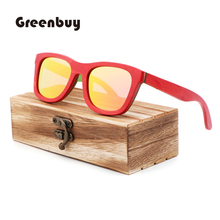 skateboard wood sunglasses polarized  fashion women bamboo UV400 Retro oculos de sol feminino