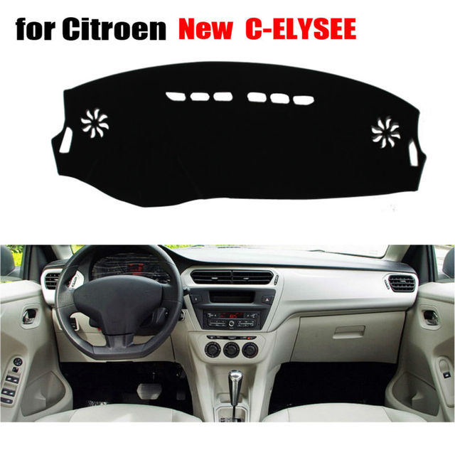 Car dashboard covers for Citroen New C-Elysee 2013-2016 Left hand drive dashmat pad dash covers Instrument platform accessories