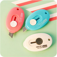 3PCS cute utility knife high quality alloy steel small hanging hole carrying paper cutter stationery school office supplies