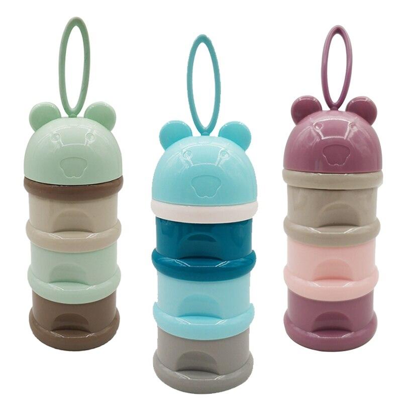 Flaschenzuführung Aufbewahrung Von Säuglingsmilchmischungen 3 Schicht Nette Tragbare Baby Lebensmittel Lagerung Box Ätherisches Getreide Toddle Kinder Cartoon Milch Pulver Boxen