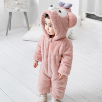 Baby Animal Romper MODIS Cat Bear Elephant Rabbit Clothes for Infant Girls Toddler Boy Flannel Jumpsuit Warm Outer Wear