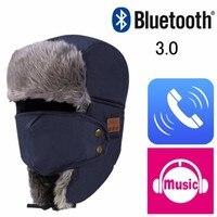 Winter Unisex Women Men Bluetooth 3 0 Hat Thicken Warm Faux Fur Beanie Hat Wireless Headset